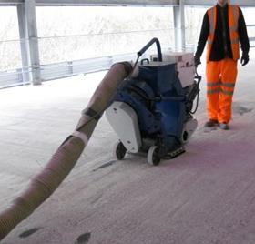 Floor Preparation Shot Blasting Concrete Floor